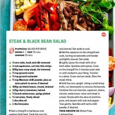 WW steak and black bean salad